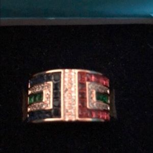 Jewelry - Emerald, Ruby, Sapphire and Diamonds in Rose GF